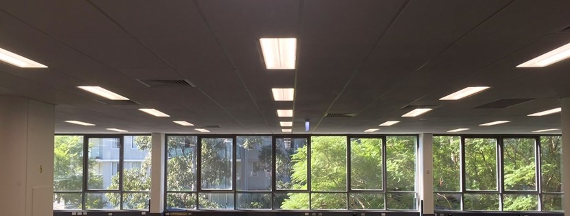 LED troffer meets tenant's light requirements where fluoros failed